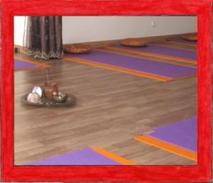 salle de cours de yoga